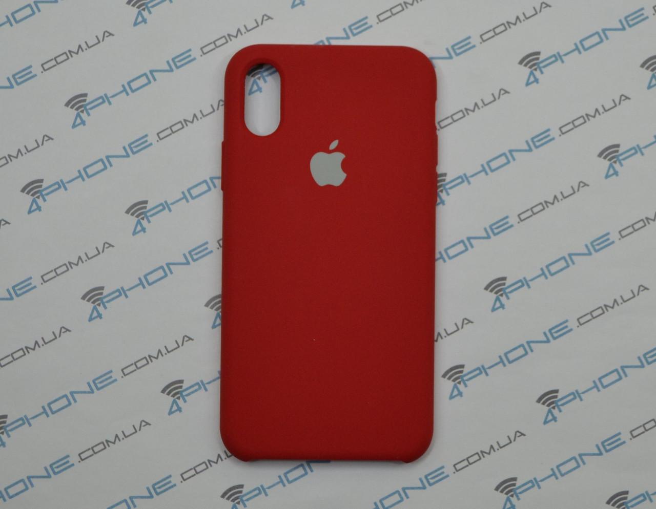 Силиконовый чехол для iPhone X, - RED - copy original