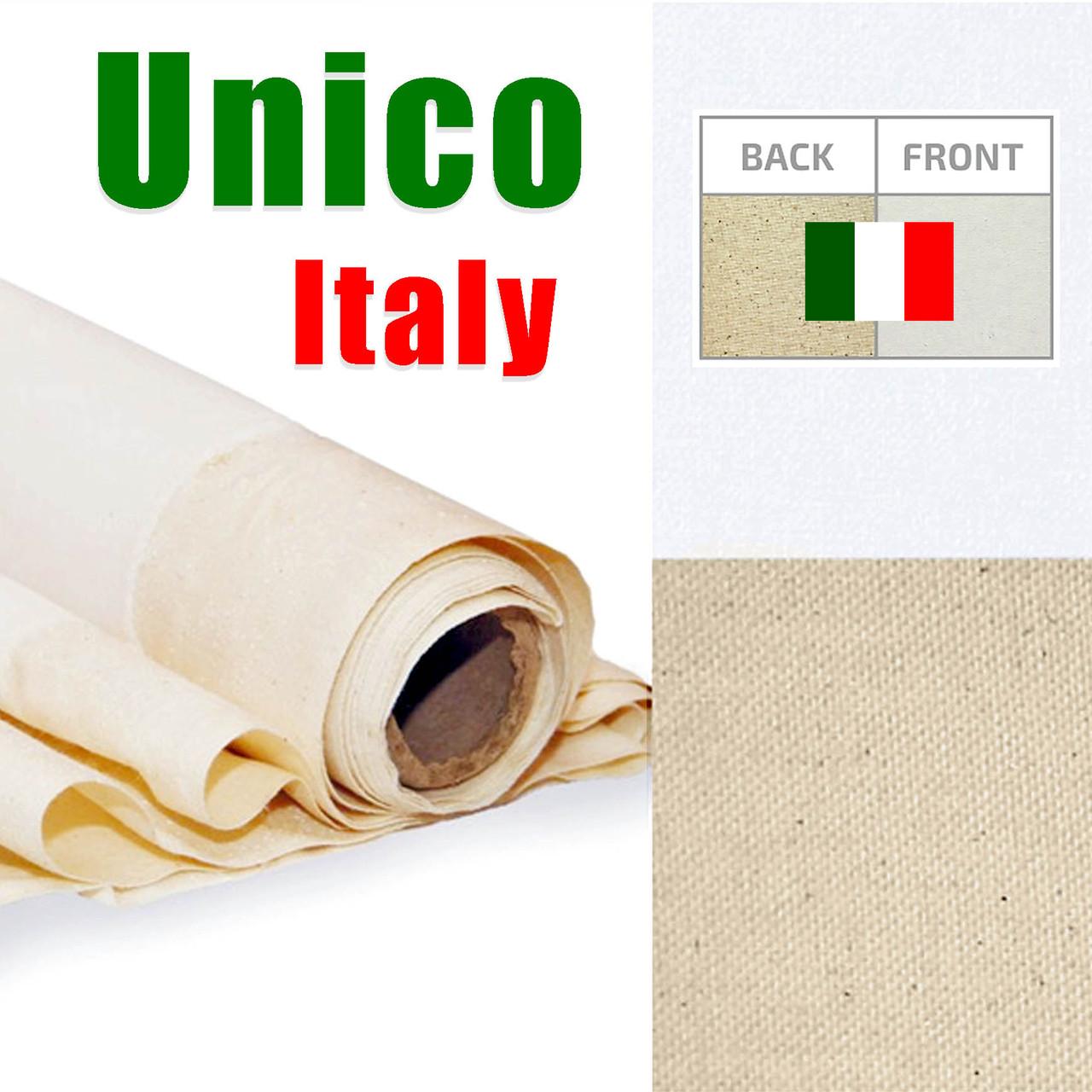"""Купить холст """"Unico"""" Италия,  среднее зерно, 335 г/м², ширина 2,1 м., в рулоне 10 п.м."""
