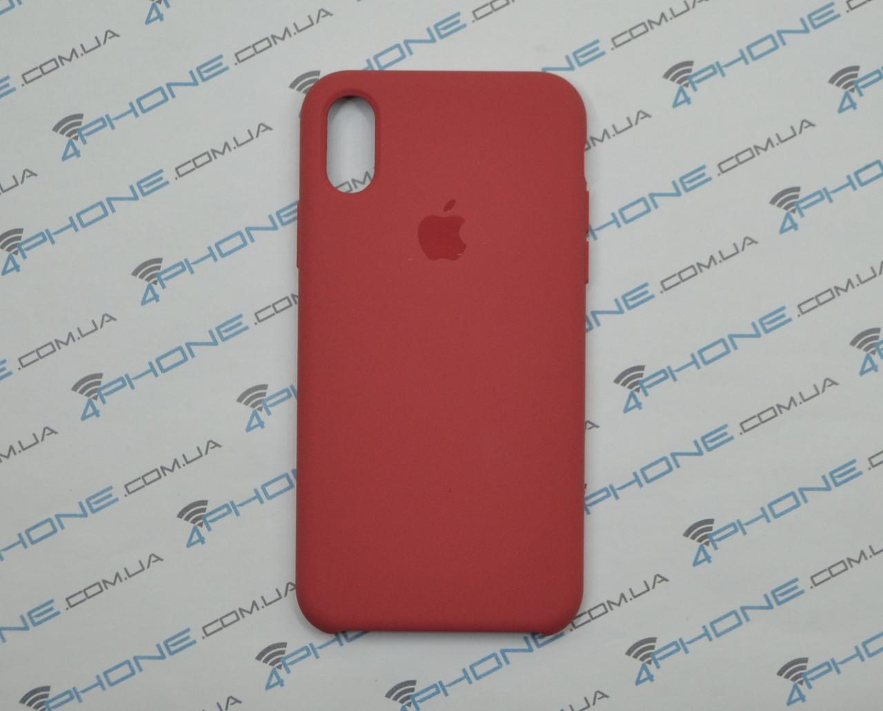 Силиконовый чехол для iPhone X, - «спелая малина» - copy original