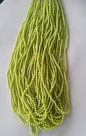 Бусины  6 мм на нитке, цвет:зеленый