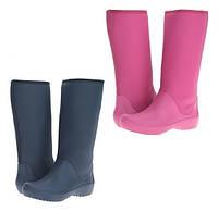 Сапоги резиновые женские высокие мягкие Crocs Women's RainFloe Tall Boot / дождевики