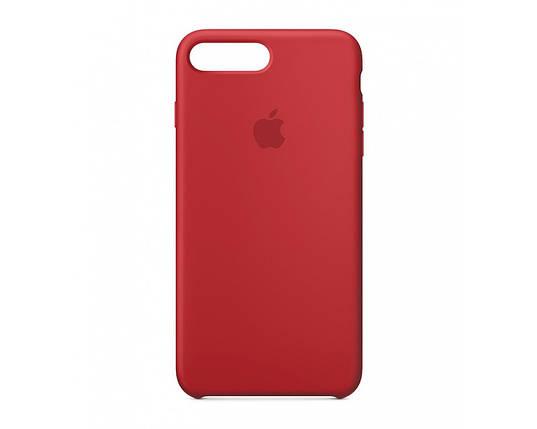 Силиконовый чехол для iPhone 7/8 Plus красный, фото 2