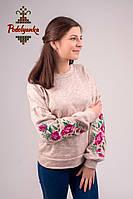 Жіночий світшот Райські квіти рожеві