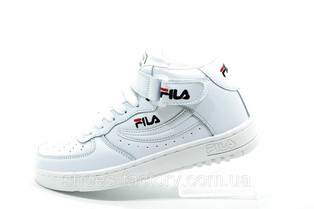 Белые кроссовки в стиле Fila FX100 Mid, Женские