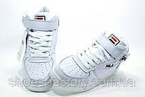 Белые кроссовки в стиле Fila FX100 Mid, Женские, фото 2