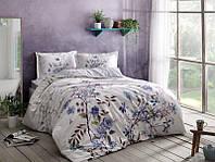 Комплект постельного белья из Сатина двуспальное евро TAC LINDY BLUE