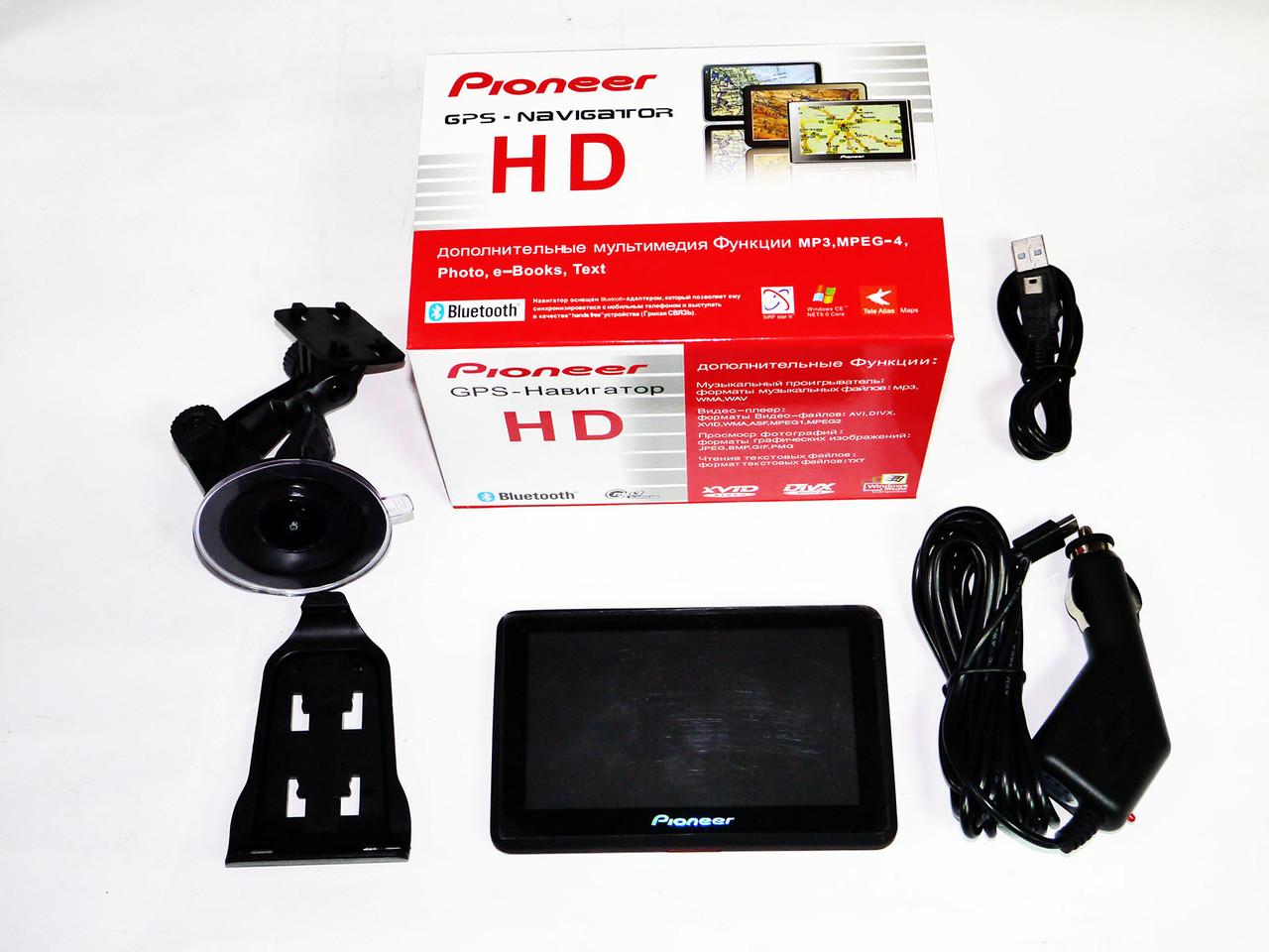 GPS навігатор Pioneer P-GSM HD, Sim-карта + Bluetoth + 4Gb