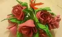 Букет цветов из фоамирана, фото 1