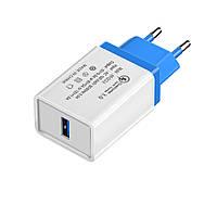 Сетевое зарядное устройство XOKO QC-100 1 USB, Qualcom 3.0, 3.5A Blue