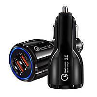 Автомобильное зарядное устройство XOKO CQC-200 2USB, Qualcom 3.0, 6A Black