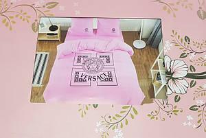 Постельное белье розового цвета евро размер