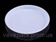 Тарелка одноразовая пластиковая d 165 мм