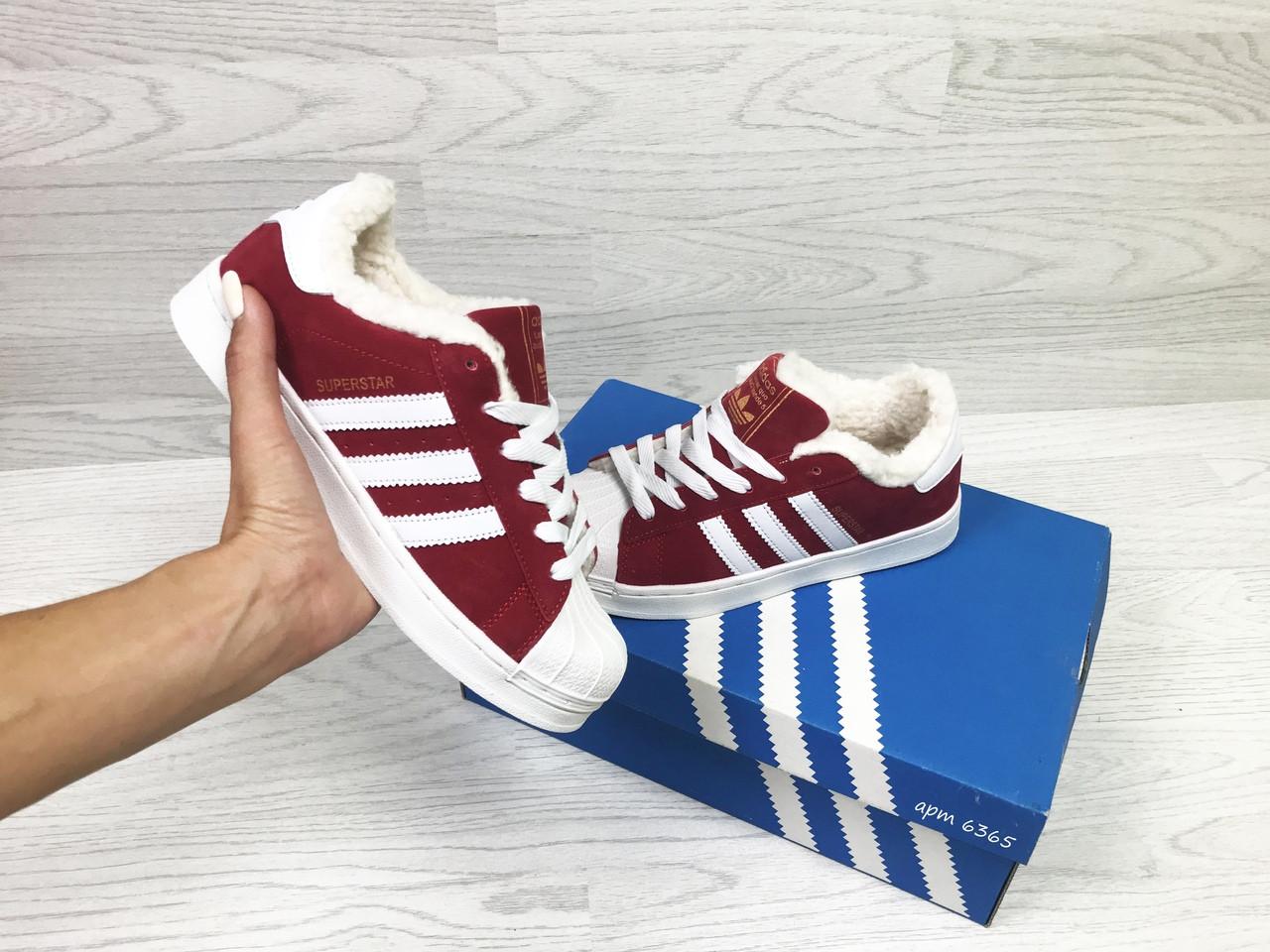 8506d999f73b45e  Кроссовки в стиле Adidas Superstar (красные) женские  зимние кроссовки код товара 6365 cfa886f5542b51e ... bdfb67c123df2