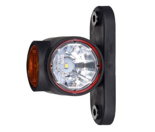 Габаритно-контурный фонарь LED рожок прямой короткий