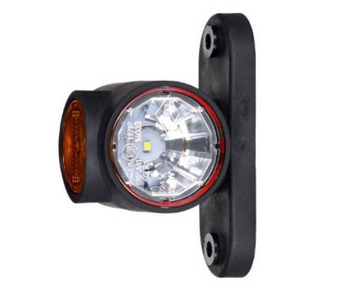 Габаритно-контурный фонарь LED рожок прямой короткий, фото 2