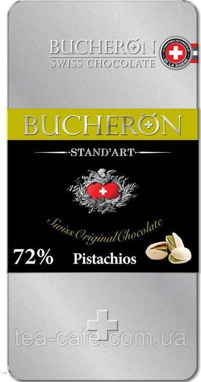 Шоколад Bucheron горький с фисташками 100 гр.