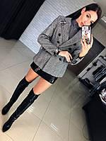 Женский пиджак с декором и отдельно юбка. КМ-2-0918