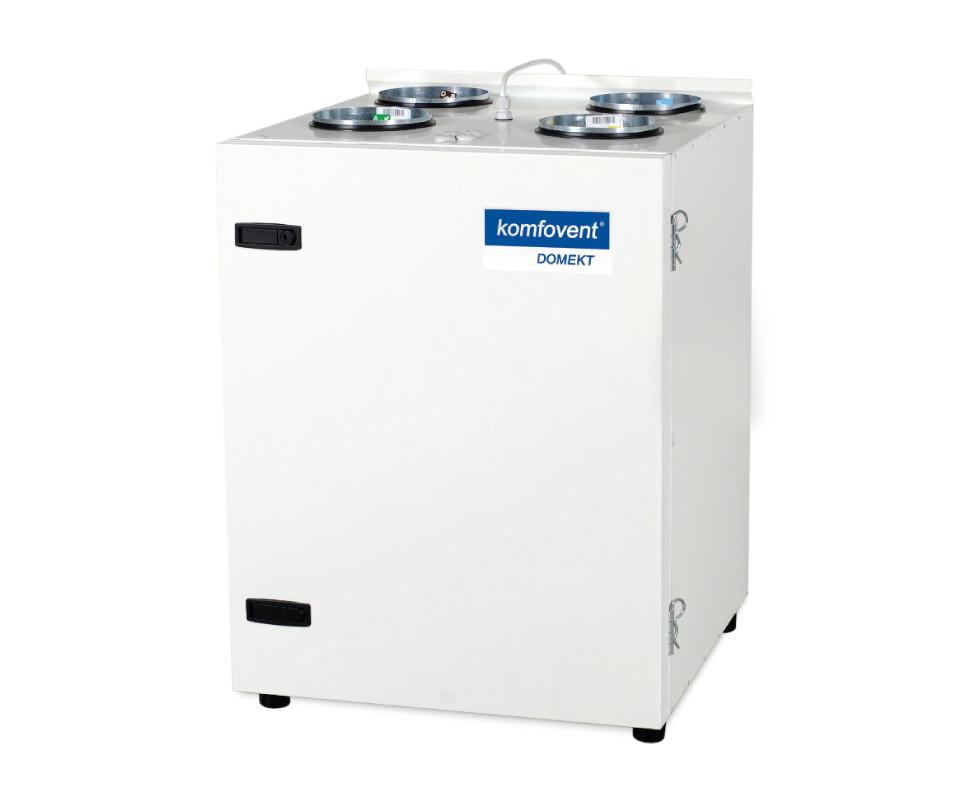 Енергоефективна та низькошумна  вентиляційна установка Komfovent  Domekt CF 250 V з пластинчатим рекуператором