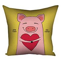 Подушка с принтом 30x30, 40x40, 50x50 (габардин) Год свиньи, 2027 (3P_PIG009)