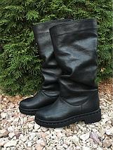 Чорні зимові чоботи з натуральної шкіри 36-40 р, фото 3