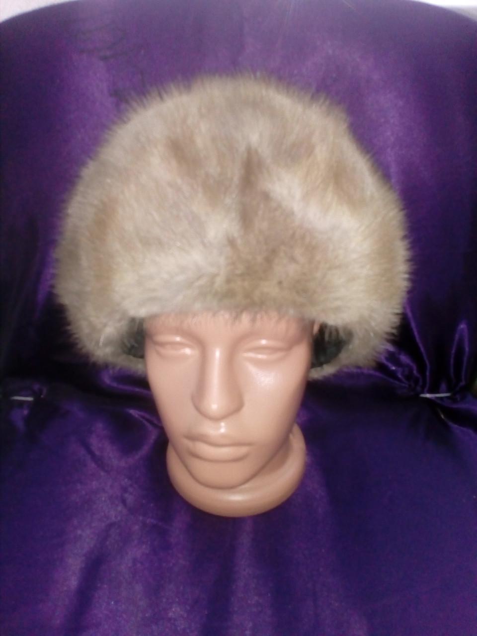 Меховая шапка из норки натуральная норка норковая шапка