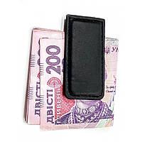Зажим для денег металл-кожа (7,5х3,5х0,5 см) ( 32127)