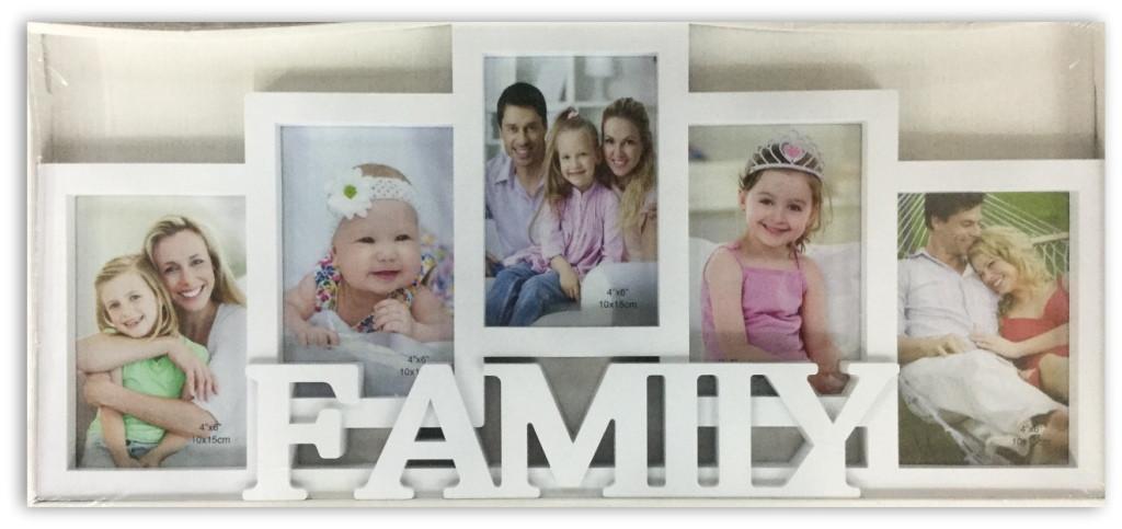 Коллаж на 5 фото Семья (M34)