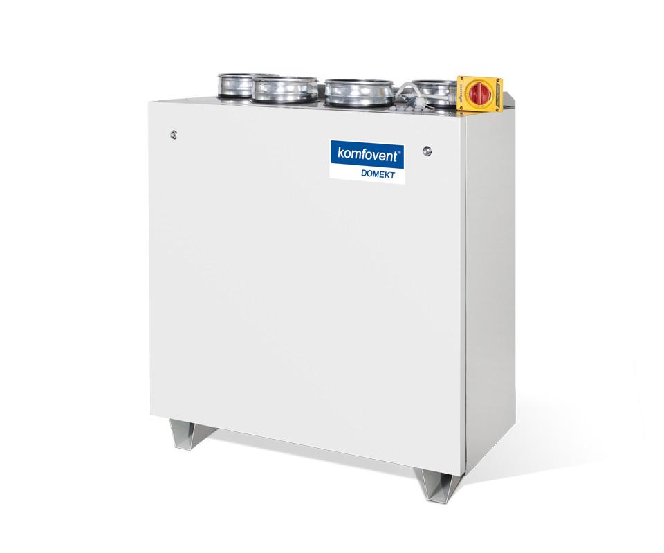 Енергоефективна та низькошумна  вентиляційна установка Komfovent  Domekt CF 700 V з пластинчатим рекуператором
