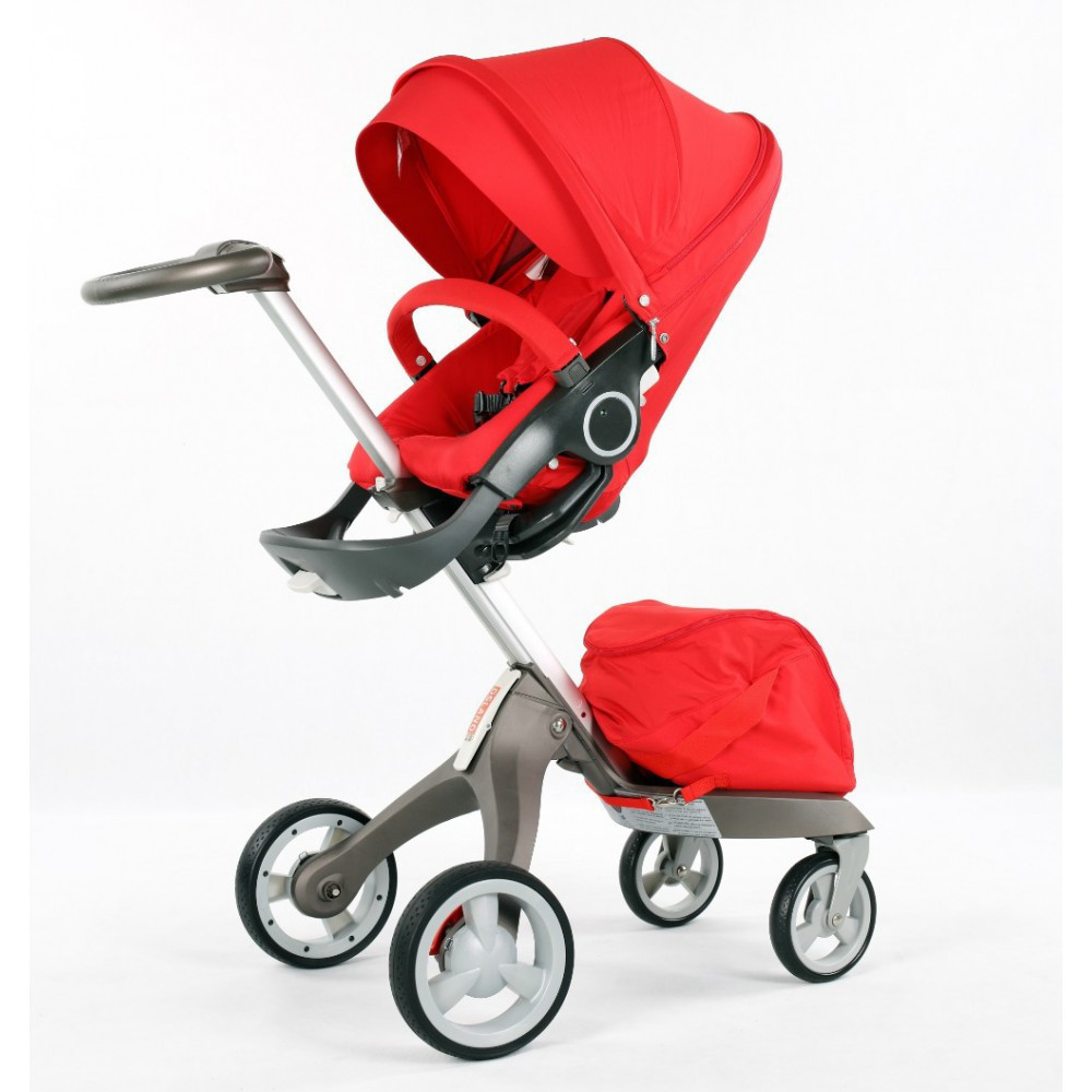 Детская коляска DSLandXplory V6 Red (Красная) Аналог Stokke Прогулочный блок