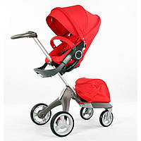Детская коляска DSLandXplory V6 Red (Красная) Аналог Stokke Прогулочный блок, фото 1