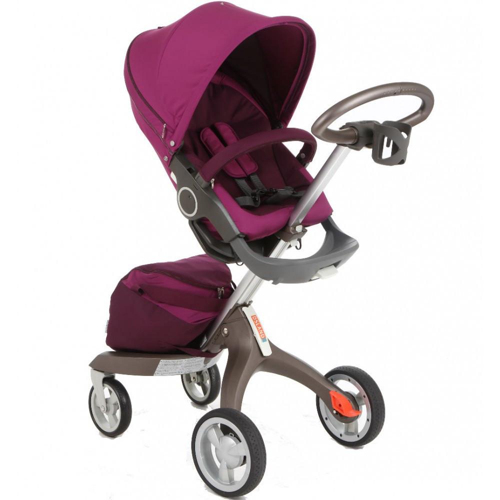 Детская коляска DSLandXplory V6 Purple (Фиолетовая) Аналог Stokke Прогулочный блок