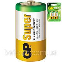 Батарейка щелочная GP 14A-U2 Super Alkaline LR14 C (блистер)