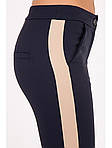 Модные женские брюки с лампасом укороченные, фото 2