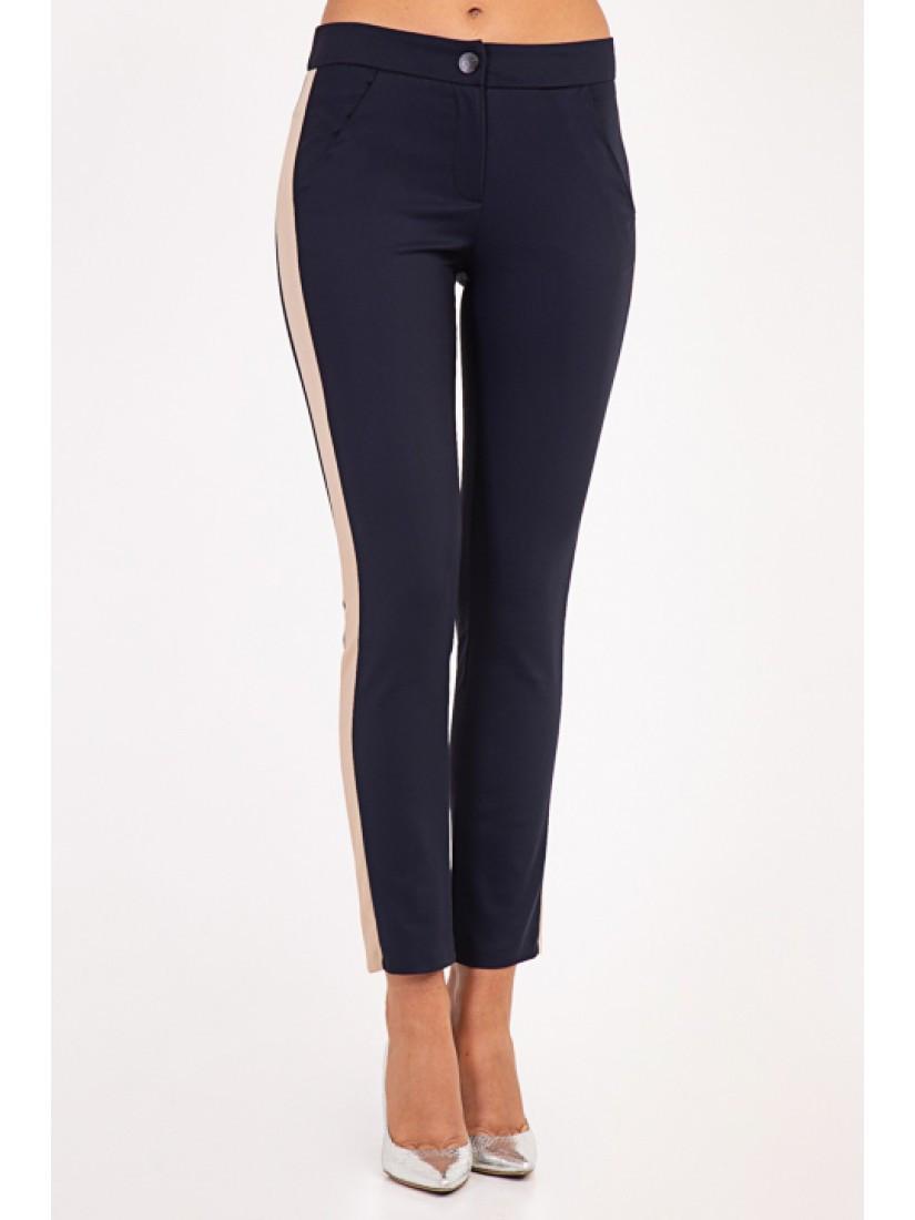 Модные женские брюки с лампасом укороченные