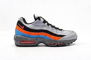 Кроссовки мужские Nike Air Max 95 Premium 'Wolf GreySafety Orange' Найк Аир Макс 95  Реплика, фото 3