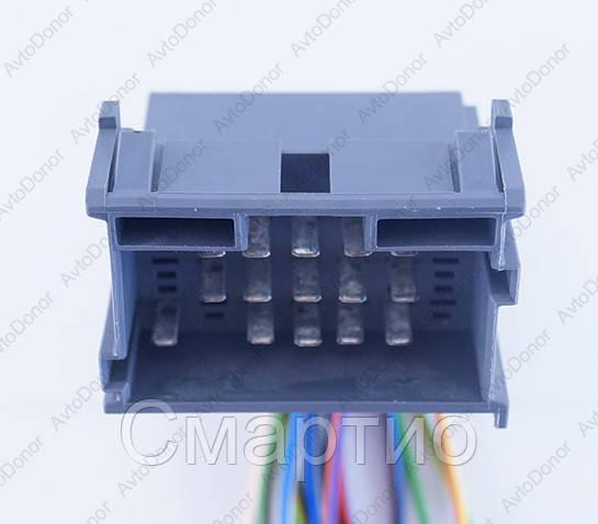 Разъем электрический 21-о контактный (42-27) б/у 9676351;1967630, фото 1