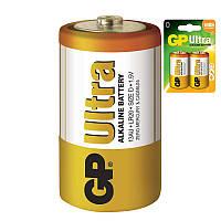 Батарейка щелочная GP 13AU-U2 Ultra Alkaline LR20 D (блистер)
