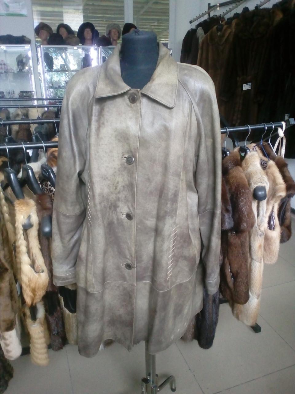 Куртка из кожи натуральная кожа кожаная куртка 54 размер
