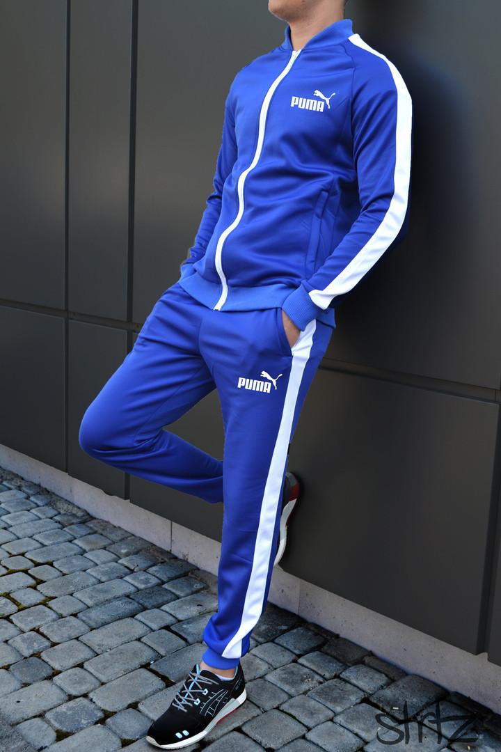 cfaea8144474 Спортивный костюм мужской с лампасами/боковыми полосками пума (Puma), копия  -