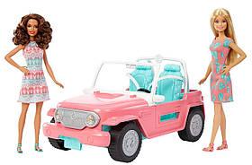 Игровой набор Розовый Джип Барби + 2 куклы Барби модницы / Barbie Pink Jeep with Two Dolls