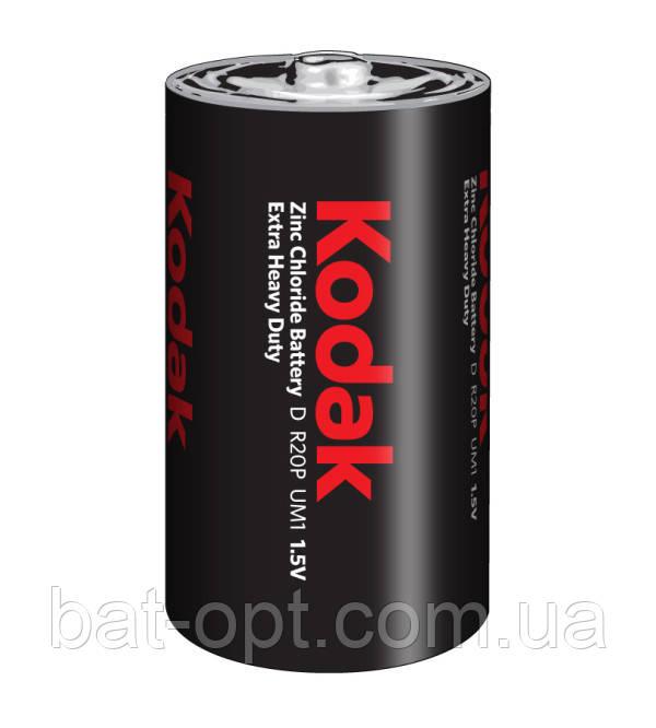 Батарейка солевая Kodak Heavy Duty R20 D (трей)
