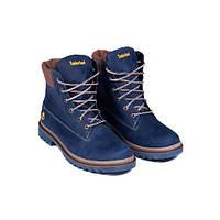 Чоловічі шкіряні зимові черевики Timberlend Crazy Shoes (Синій). Розмір 42 6a3be6c4d305a