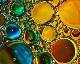 """Картина на стекле """"Разноцветные капли"""""""