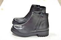 Кожаные ботинки черного цвета 2 молнии 5th Avenue N.Y. к.-716