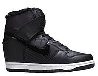 "Сникерсы Nike WMNS Dunk Hight ""Black"" С МЕХОМ  (Копия ААА+)"