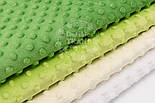 Набор отрезов плюша минки: в молочно-зелёных оттенках из 4 шт (33*40) №76, фото 2
