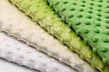 Набор отрезов плюша минки: в молочно-зелёных оттенках из 4 шт (33*40) №76, фото 3