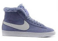 "Кроссовки Nike Dunk Hight ""Purple"" С МЕХОМ  (Копия ААА+)"