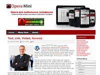 Шаблон для сайта на WordPress - тема Opera.