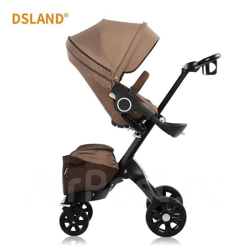 Детская коляска DSLandXplory V6 Brown (Коричневая) Аналог Stokke Прогулочный блок
